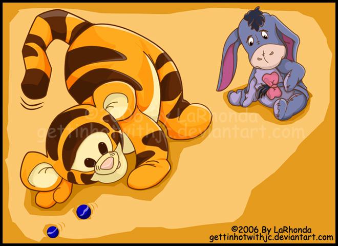 Baby Tigger And Eeyore By Misskingdomvii On Deviantart