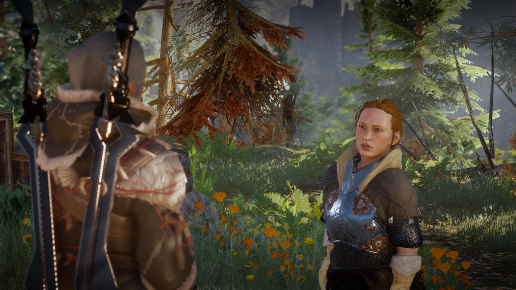 Inquisitor Leylane Lavellan and Scout Harding by Loukilouk04