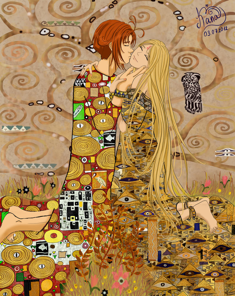 two in the style of gustav klimt by kanochka on deviantart