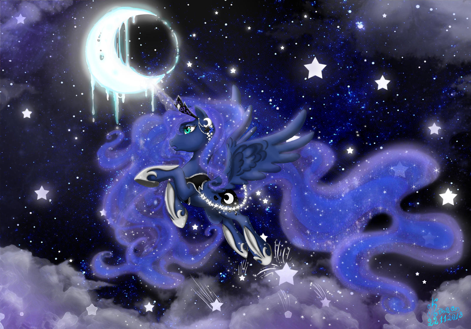 My Little Pony Friendship Is Magic Princess Luna by Kanochka on