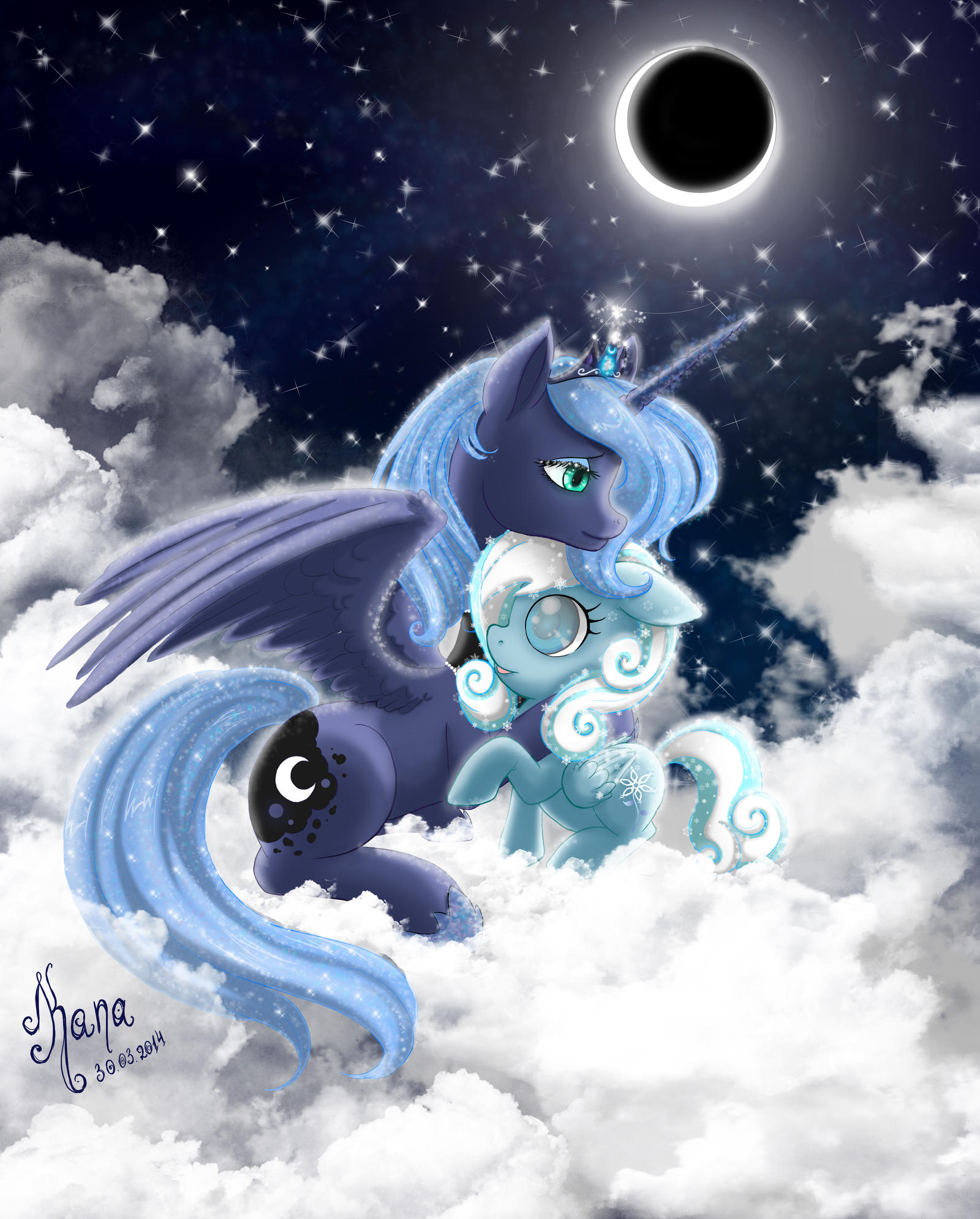 my_little_pony__luna_and_snowdrop_by_kan