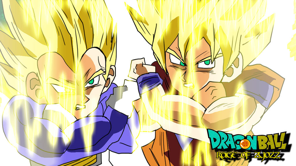 Son Goku And Vegeta Super Saiyan - Rage Of Zyozz by Mik05