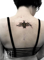 Bee Custom Sketch Tattoo by JiKaARTstuff