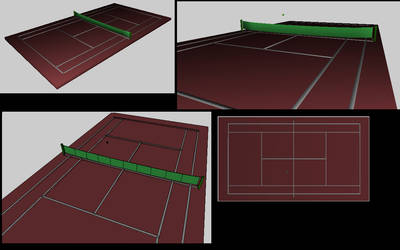 Tennis courtin' by Scezumin