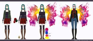 Tokyo Ghoul OC ref by Marta-Bit