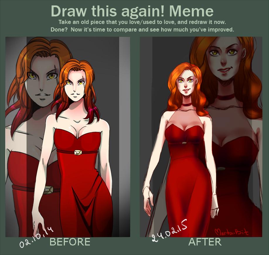 Draw this again meme by Marta-Bit