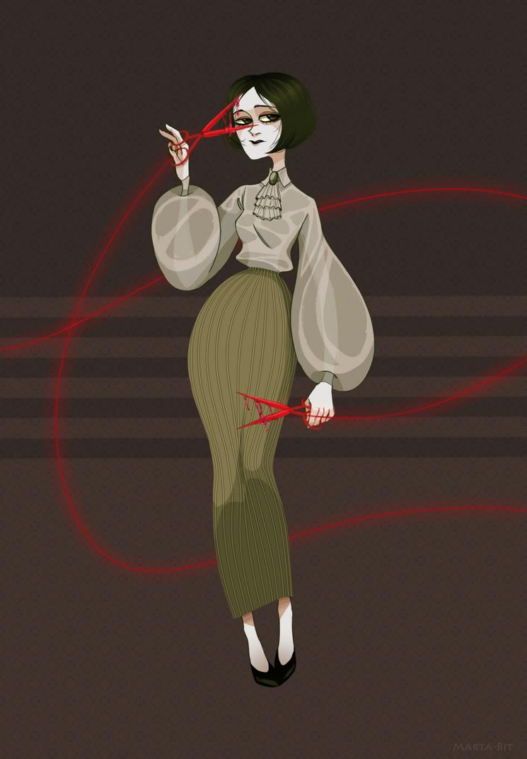 Red scissors by Marta-Bit