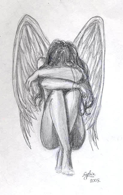Angel Drawing Tumblr Drawings of Sad Angels