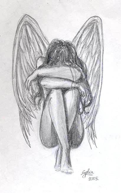 Sad Angel By Useless Girl On Deviantart