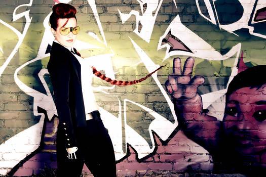 Crimson Viper graffiti