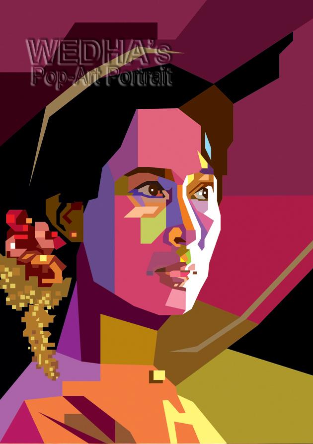 Aung San Suu Kyi in WPAP by wedhahai