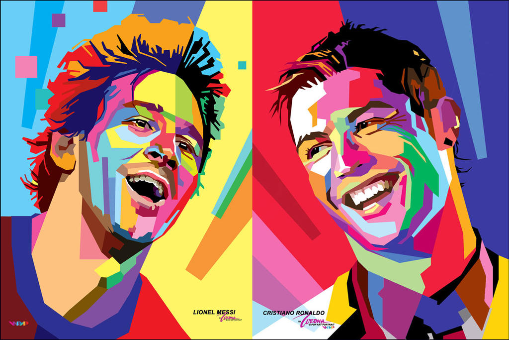 WPAP Messi Ronaldo