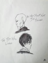 Harry Potter and Lord Voldy Sketch by JaymzNonoel