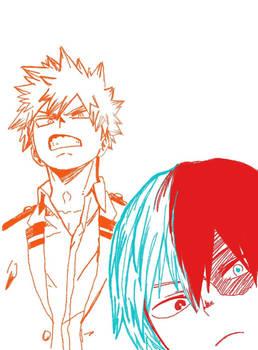 Bakugou and Todoroki traced