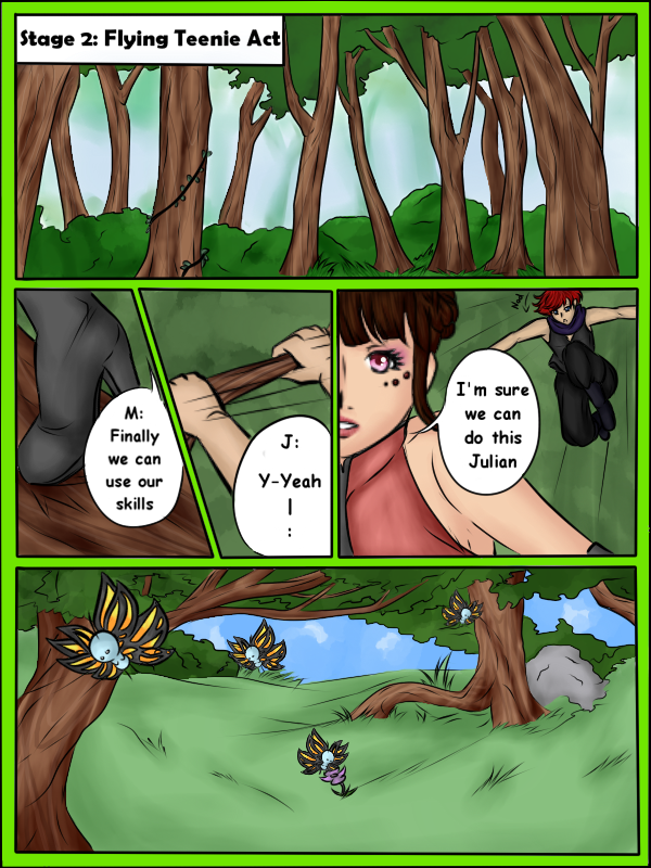 .:T-I:. Flying Teenie Act Page 1 by Skylark-13