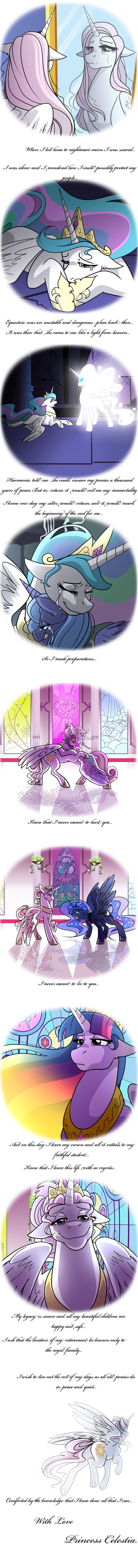 Celestia's farewell by angelamyrose