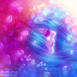 Petals and women by bluegerbera-yuki