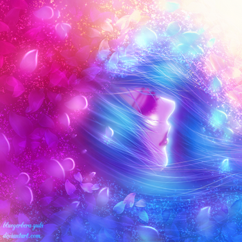 Petals and women-sparkle- by bluegerbera-yuki