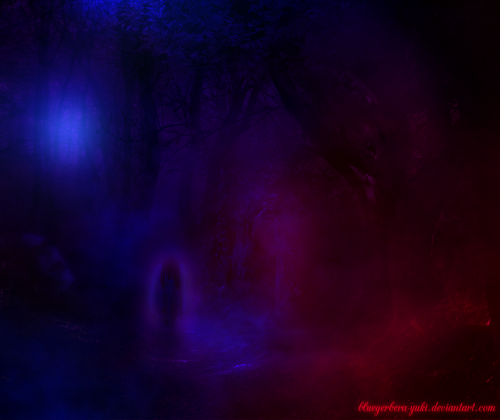 Ghostly Forest by bluegerbera-yuki