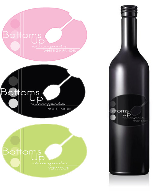 Bottom's Up Vineyard Labels by carlyx05x
