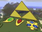 Triforce and spiritual stones