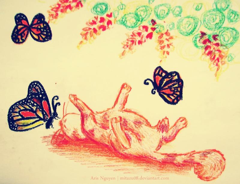 Lazy time with monarch by mitazu08