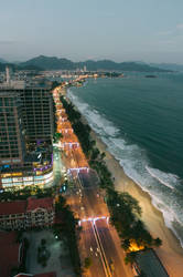 Nha Trang shore by night