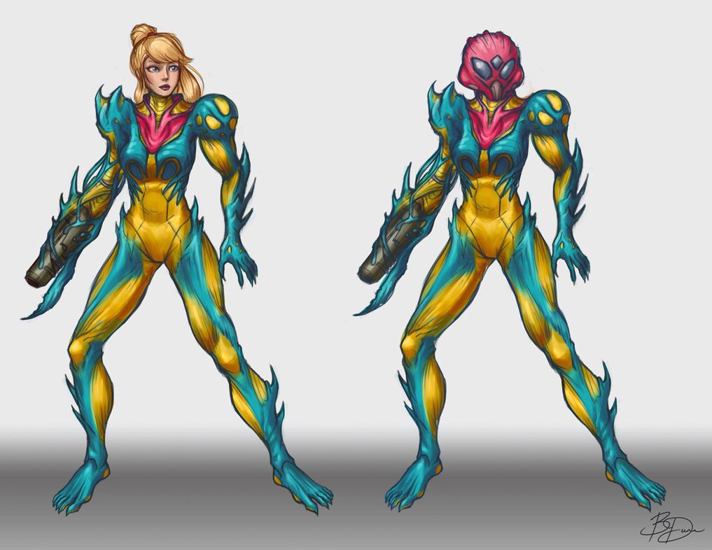 Metroid Fusion Suit Redesign WIP By ImDRUNKonTEA On DeviantArt
