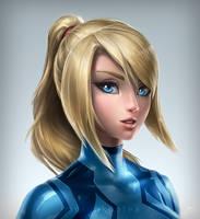 Zero Suit Samus Portrait by imDRUNKonTEA