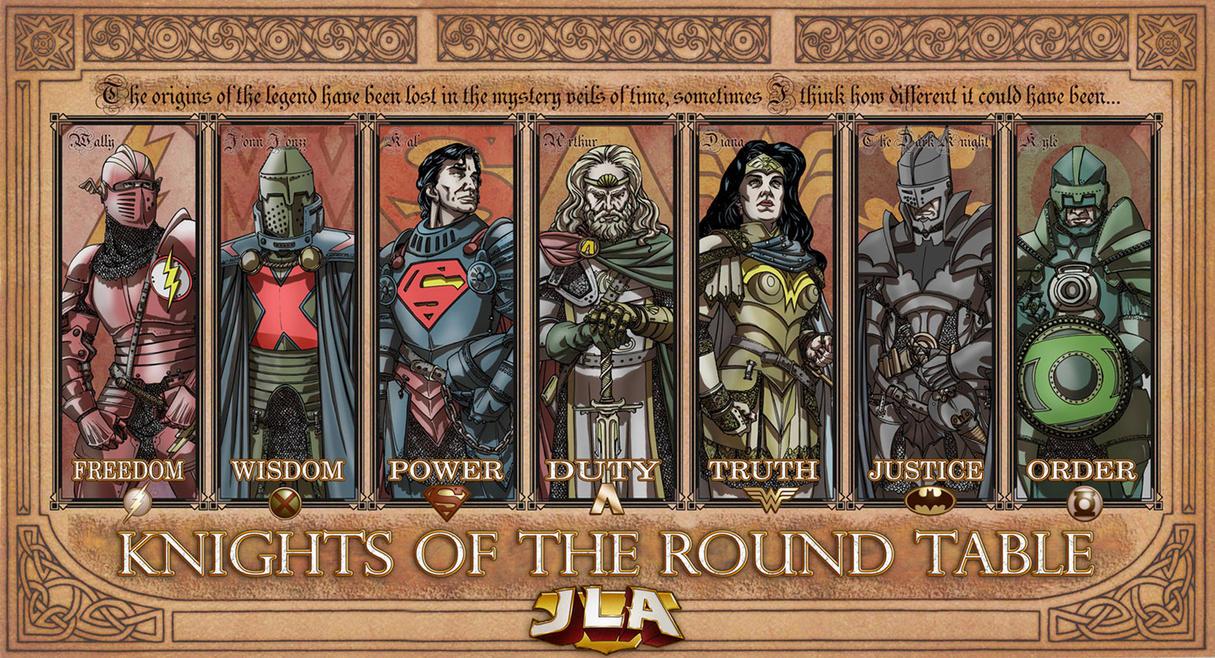 Képek a képregény világából - Page 2 JLA_knights_of_the_Round_table_by_TheComicFan