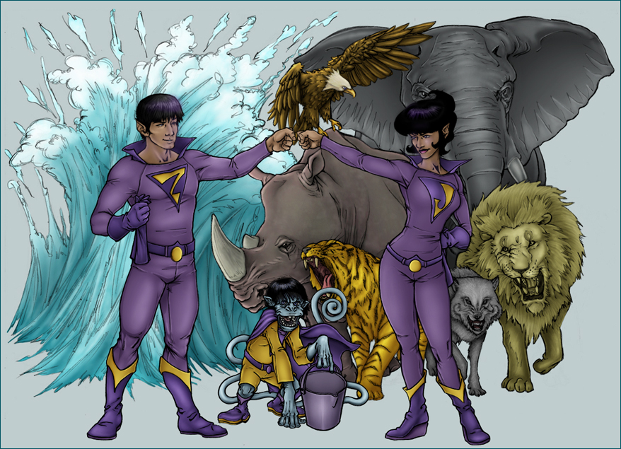 WONDER TWINS COLORS by TheComicFan