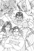DC-MARVEL TEAM UP by TheComicFan