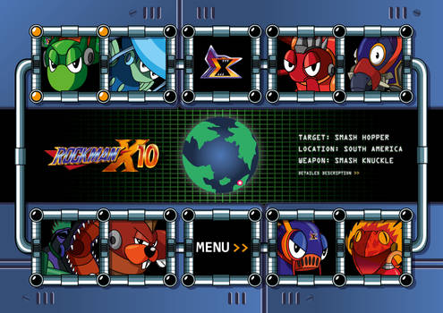 Rockman X10 Boss Select Screen