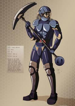 Tesla Strider Character Design: Broyer