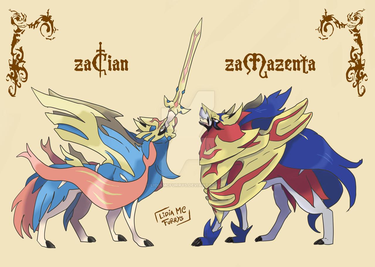 Zamazenta Y Zacian Fanart By Lidiamcfurrys On Deviantart
