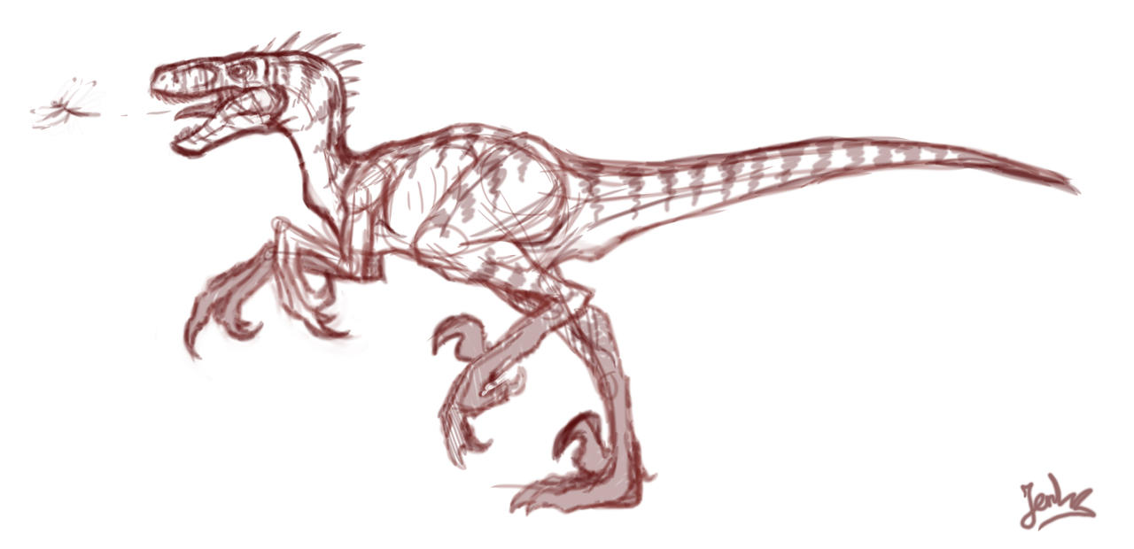 raptor sketch by mangakasan on DeviantArt