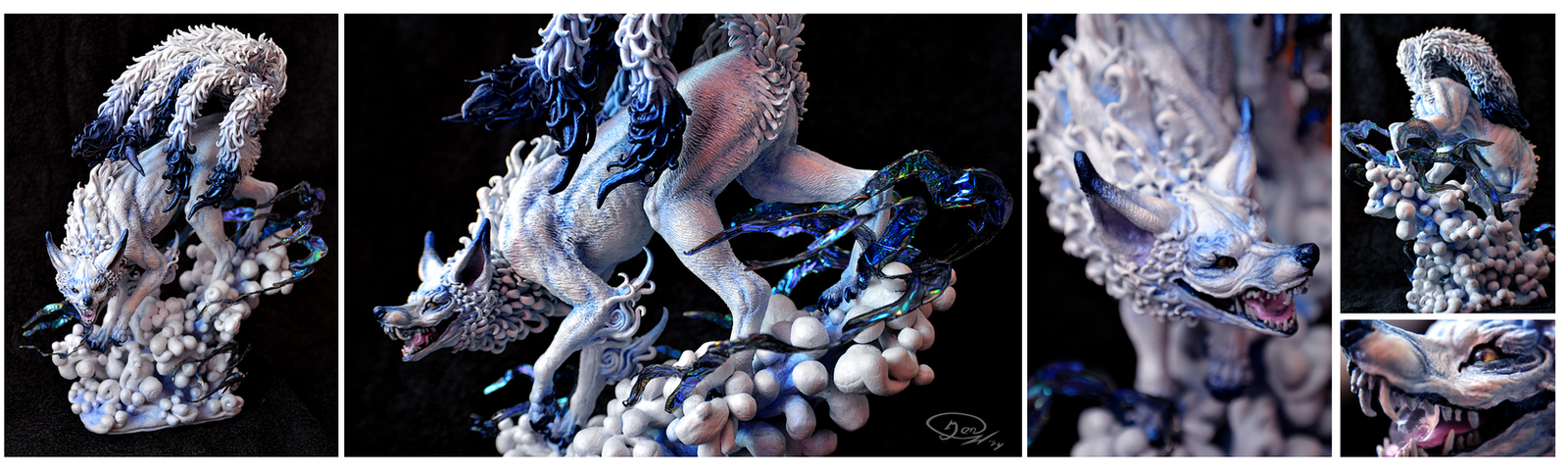 Ooak Beast of white and blue by mangakasan