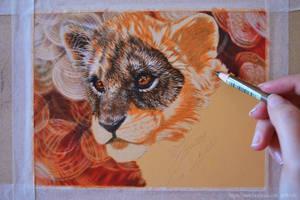 Wip lion cub by mangakasan