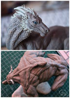 sculpts in progress by mangakasan