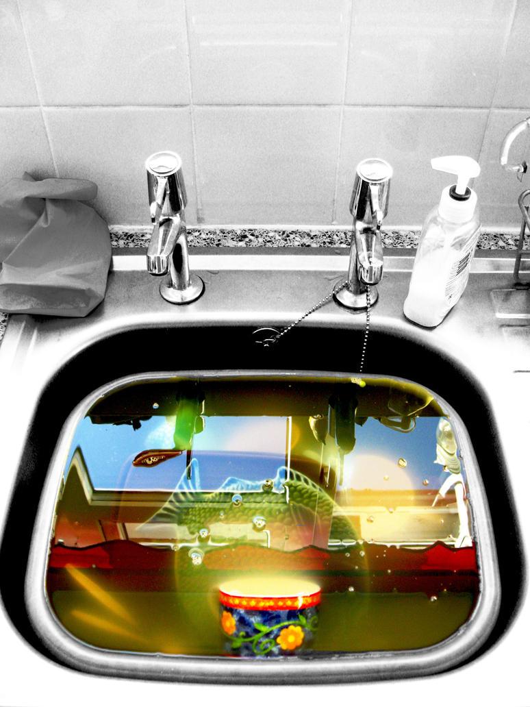 The sink by vandalised
