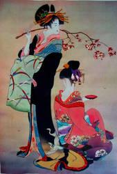Oriental women by vandalised