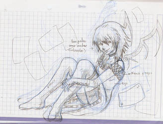Sketch of Joker girl 2 by MarisaArtist