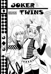 Joker Twins Cover BN by MarisaArtist