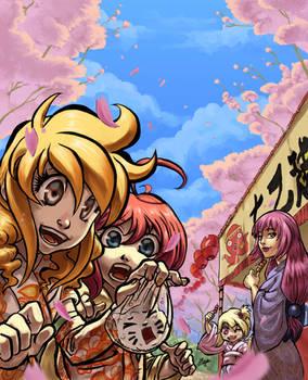 Hanami SOS V  poster illustration