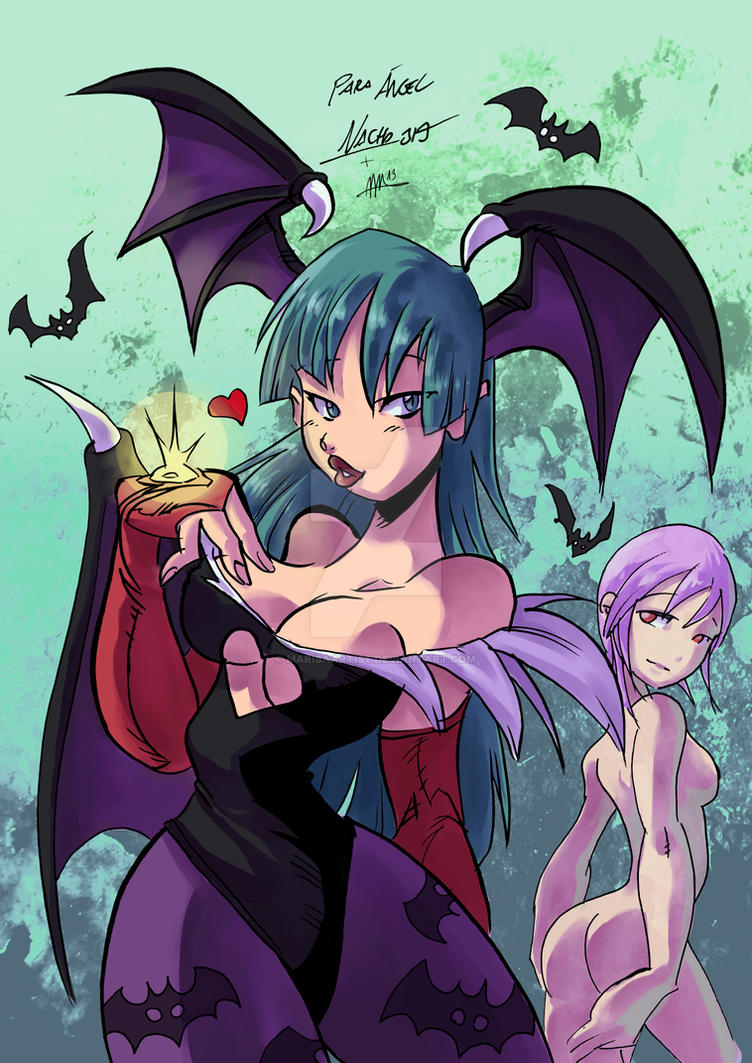 Morrigan and Lilith gift by marisaotakuCSI
