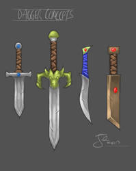 Dagger Concepts by DemonToaster