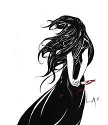 Inktober #5 - Long by Laxianne
