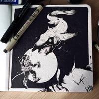Inktober 2020 #01 - Fish by Laxianne