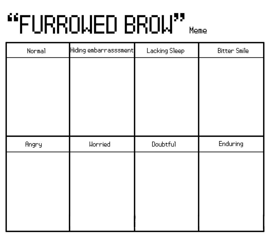 __furrowed_brow___meme_by_tamara_tan d32b1z4 furrowed brow' meme by accidias on deviantart