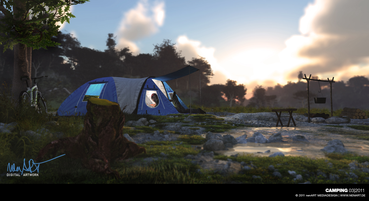 Camping by nenART